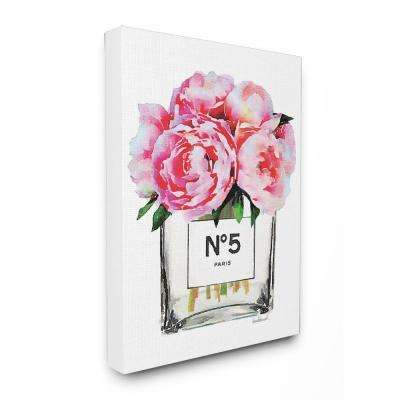 "24 in. x 30 in. ""Glam Paris Vase with Pink Peony"" by Amanda Greenwood Printed Canvas Wall Art"