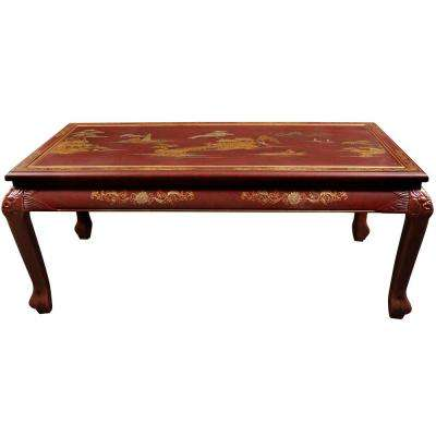Oriental Furniture Red Coffee Table