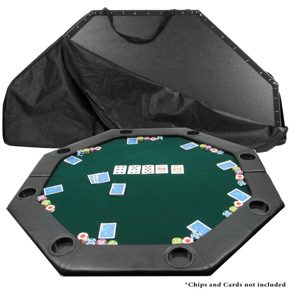 Perfect Trademark Octagon Padded Green Poker Table Top