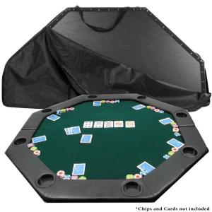 Trademark Octagon Padded Green Poker Table Top by Trademark