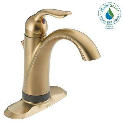 Lahara Single Hole Single-Handle Bathroom Faucet with Touch2O.xt Technology in Champagne Bronze