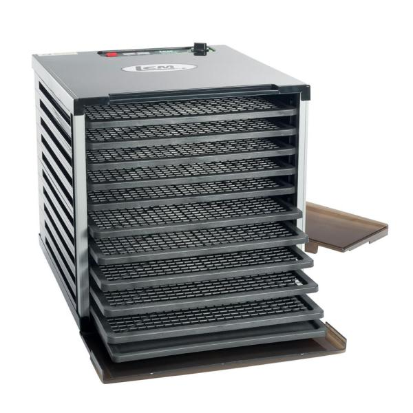 LEM Mighty Bite 10-Tray Black Food Dehydrator with Temperature Control 1153