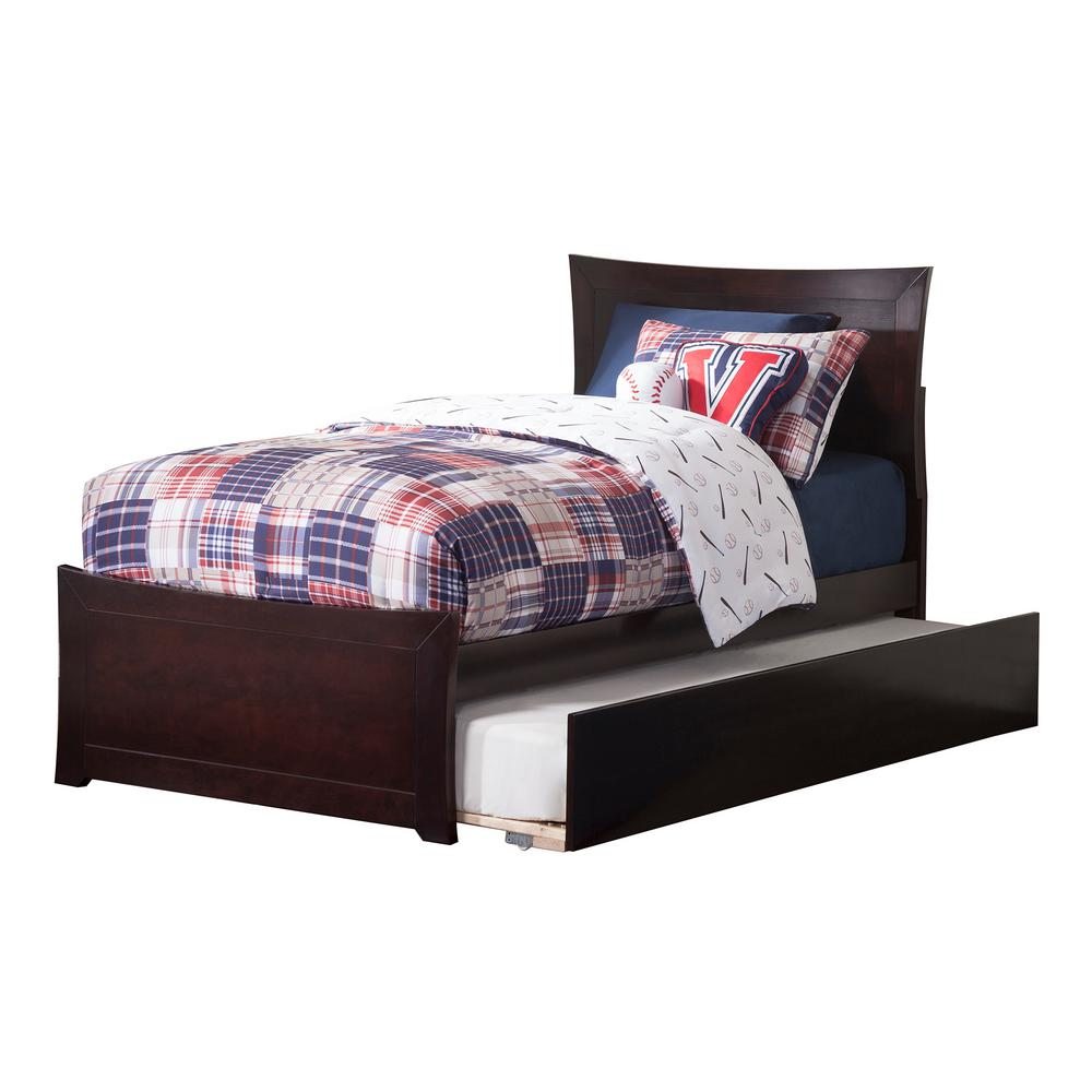 Metro Espresso Twin Platform Bed with Matching Foot Board with Twin