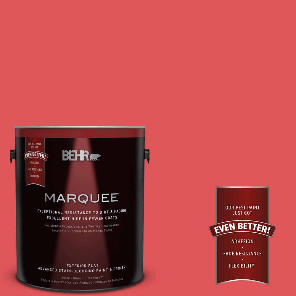 BEHR MARQUEE 1-gal. #150B-6 Firecracker Flat Exterior Paint