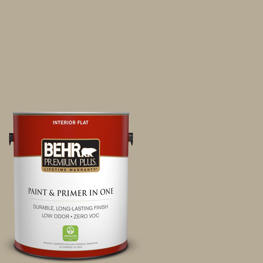 1 gal. #N310-4 Desert Khaki Flat Zero VOC Interior Paint and