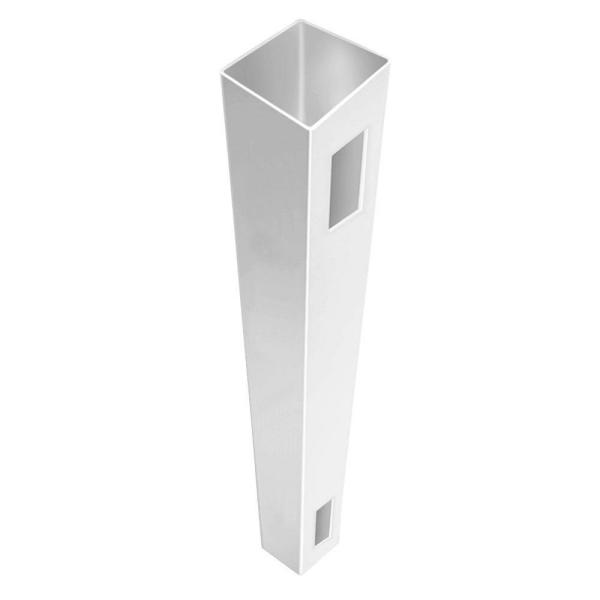 5 in. x 5 in. x 8-1/2 ft. White Vinyl Fence End Post