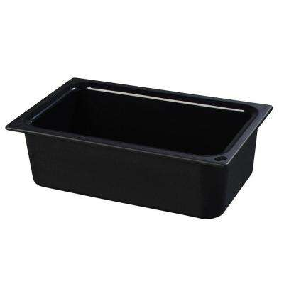 Coldmaster 6 in. Half Size Deep Black Standard Food Pan