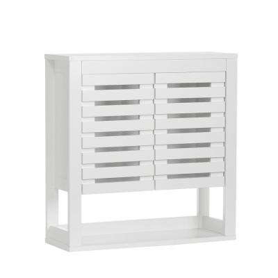 Bayfield 23 in. W 2-Door Wall Cabinet in White