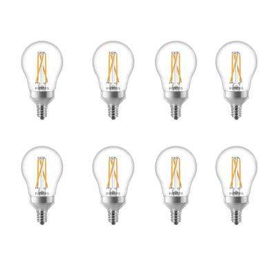 40-Watt Equivalent A15 Dimmable with Warm Glow Dimming Effect Candelabra Base LED Light Bulb Soft White (8-Pack)