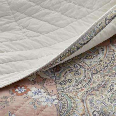 Ava Patch Handcrafted Cotton Percale Quilt