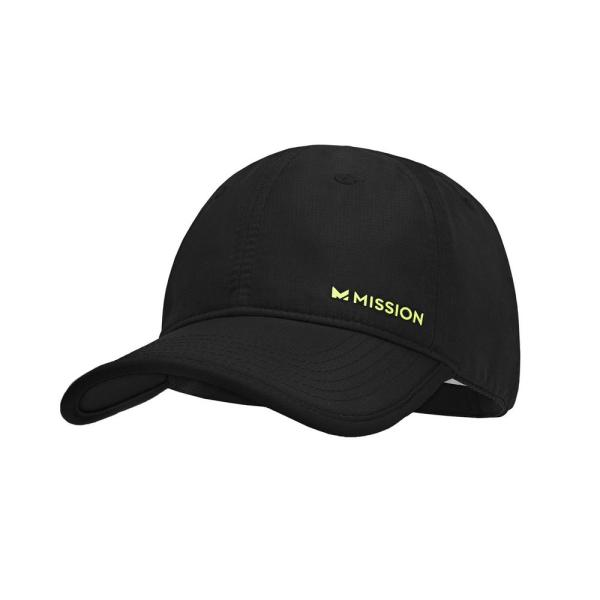 Hydro Active Unisex One Size Black Polyester Performance Hat