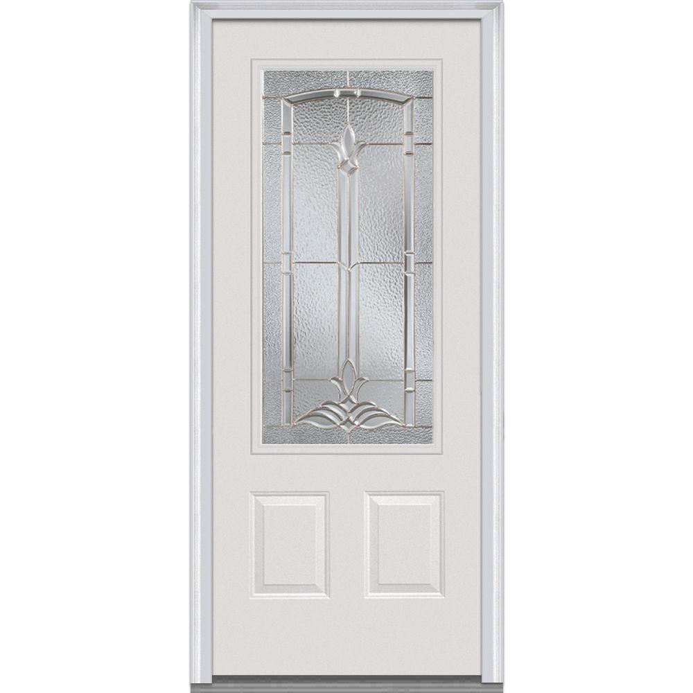MMI Door 36 in. x 80 in. Bristol Right-Hand 3/4  sc 1 st  Home Depot & MMI Door 36 in. x 80 in. Bristol Right-Hand 3/4-Lite Decorative 2 ...