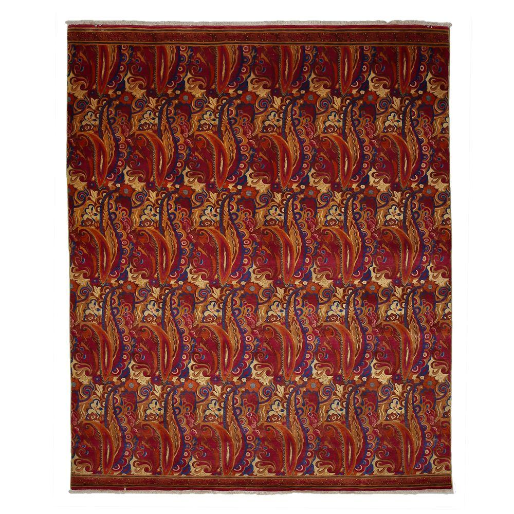 Darya Rugs Suzani Red 7 ft. 10 in. x 9 ft. 7 in. Indoor Area Rug
