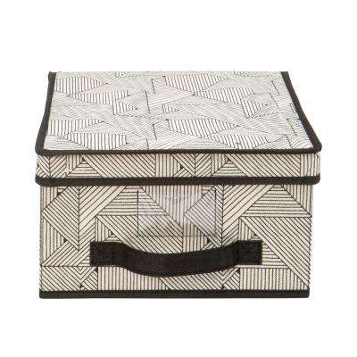 11 in. x 12 in. x 6 in. Geo Natural Medium Storage Box