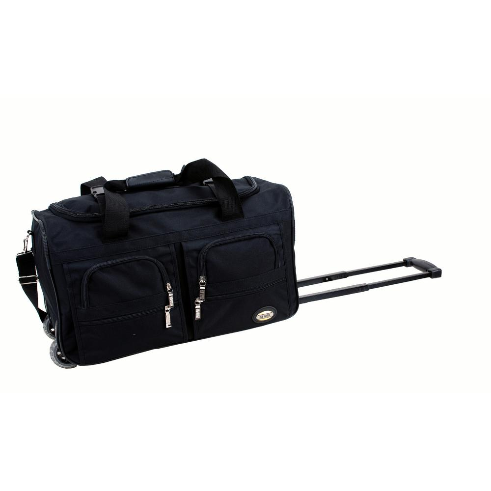 Rockland Voyage 22 In Rolling Duffle Bag Black
