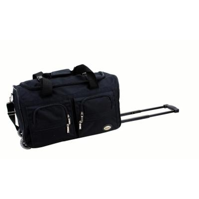 Rockland Voyage 22 in. Rolling Duffle Bag, Black