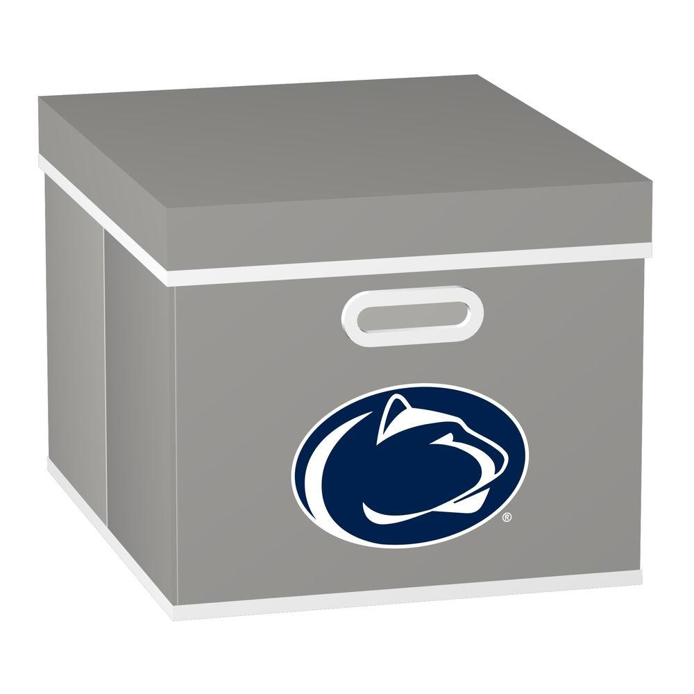 MyOwnersBox College STACKITS Pennsylvania State University 12 in. x 10 in. x 15 in. Stackable Grey Fabric Storage Cube