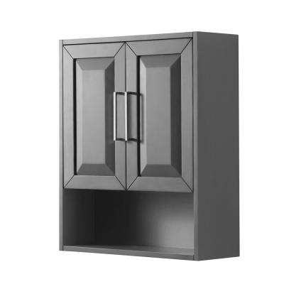 Daria 25 in. W x 30 in. H x 9 in. D Bathroom Storage Wall Cabinet in Dark Gray