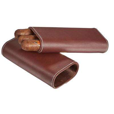 Kenton Brown Leather Cigar Case