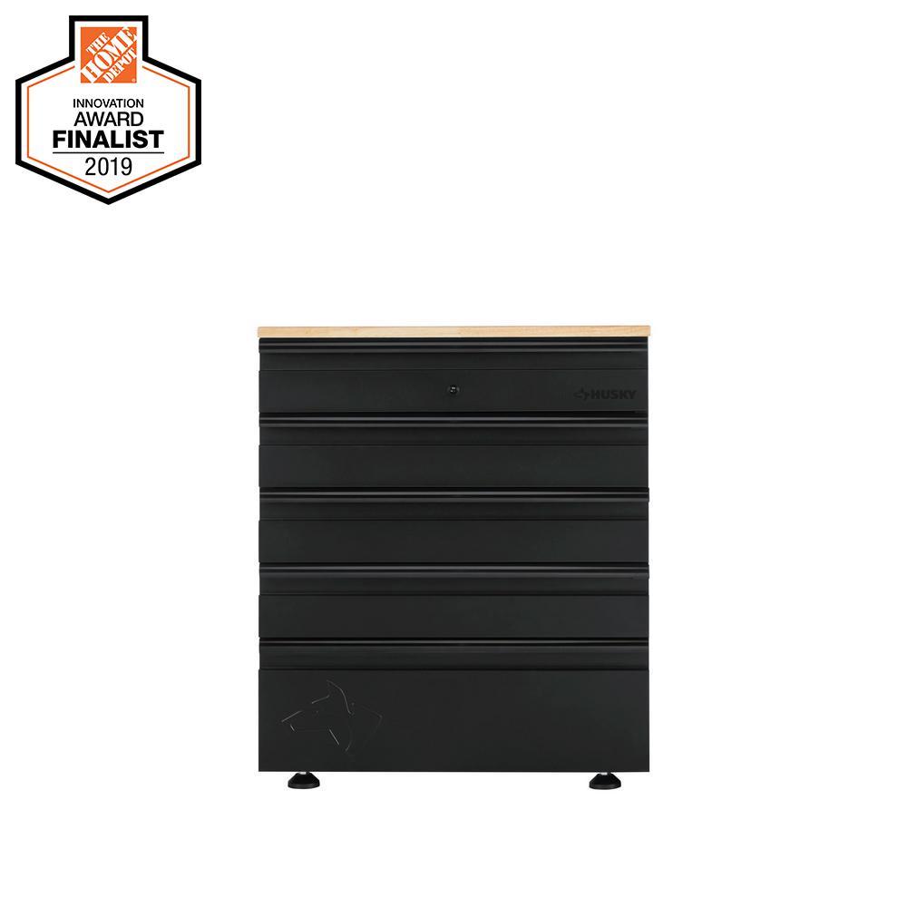 Heavy Duty Welded 28 in. W x 32 in. H x 21.5 in. D Steel Garage 5-Drawer Base Cabinet
