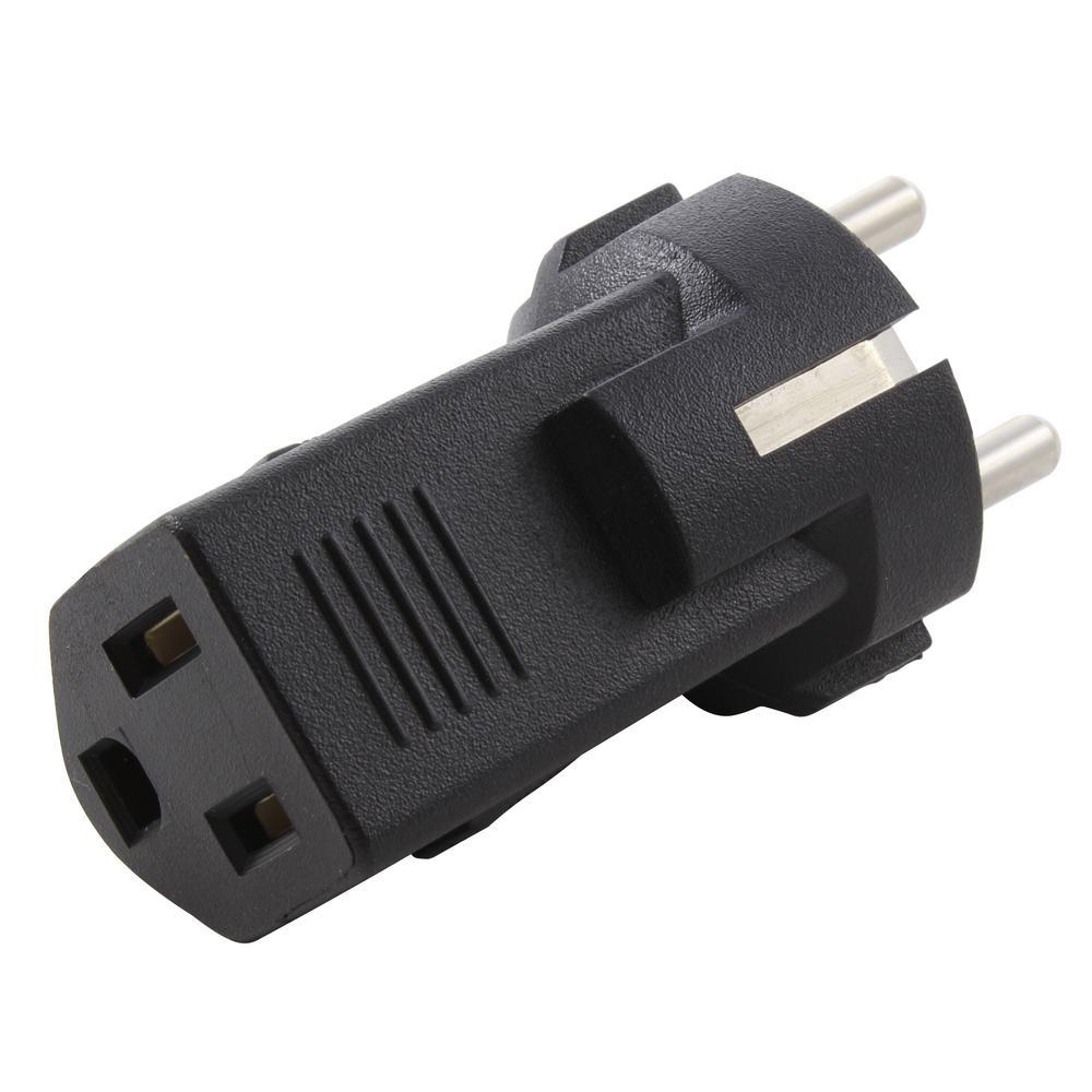 AC Connectors Int'l Plug adapter (EU Plug to US Regualr Household Connector)