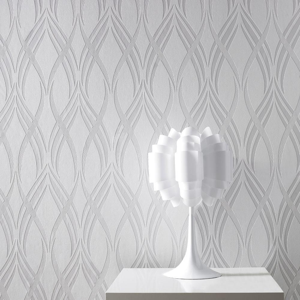 Graham & Brown Neo White Wallpaper
