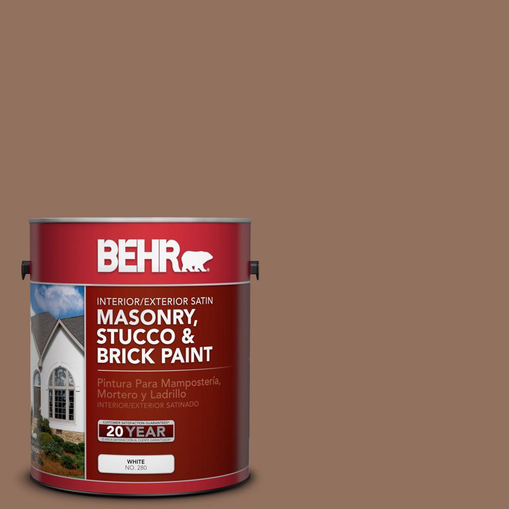 1 gal. #BXC-84 Corral Brown Satin Interior/Exterior Masonry, Stucco and Brick Paint