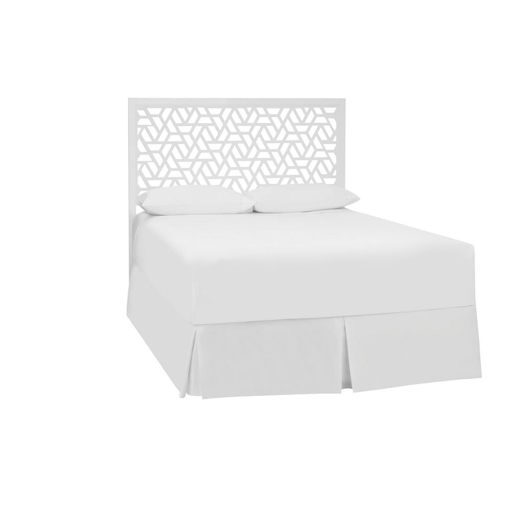 Stylewell Casby White Wood Queen Cutout Headboard (62.99 in W. X 55.12 in H.)