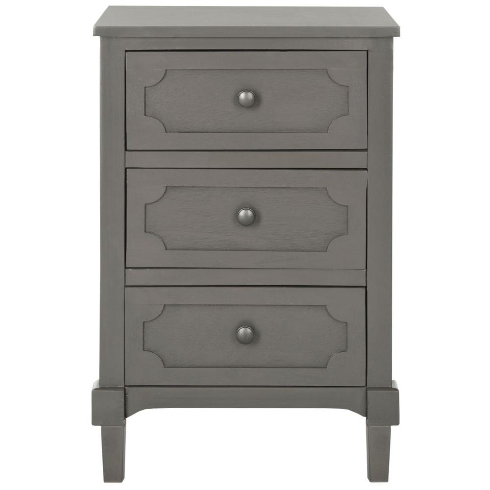 Perfect Safavieh Rosaleen Grey Storage Side Table