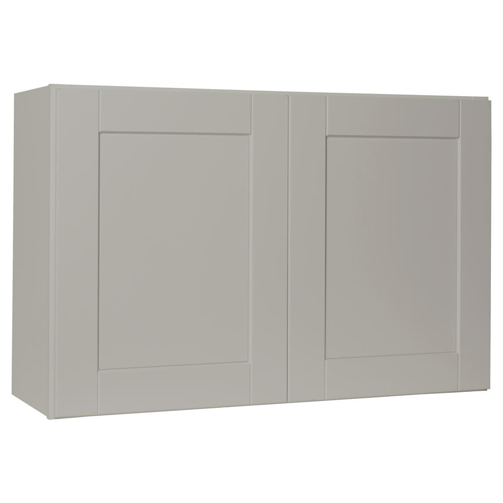 Hampton Bay Shaker Assembled 36x23.5x12 in. Wall Bridge Kitchen Cabinet in Dove Gray