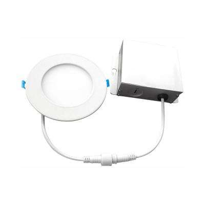 4 in. 3000K New Construction or Remodel IC Rated Canless Recessed Integrated LED Kit for Shallow Ceiling