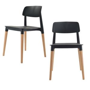 Stupendous Cozyblock Bel Series Black Modern Accent Dining Side Chair Caraccident5 Cool Chair Designs And Ideas Caraccident5Info