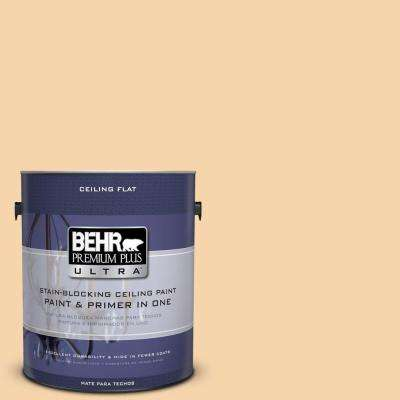 1 gal. No.UL150-12 Ceiling Tinted to Pale Honey Flat Interior Paint and Primer in One