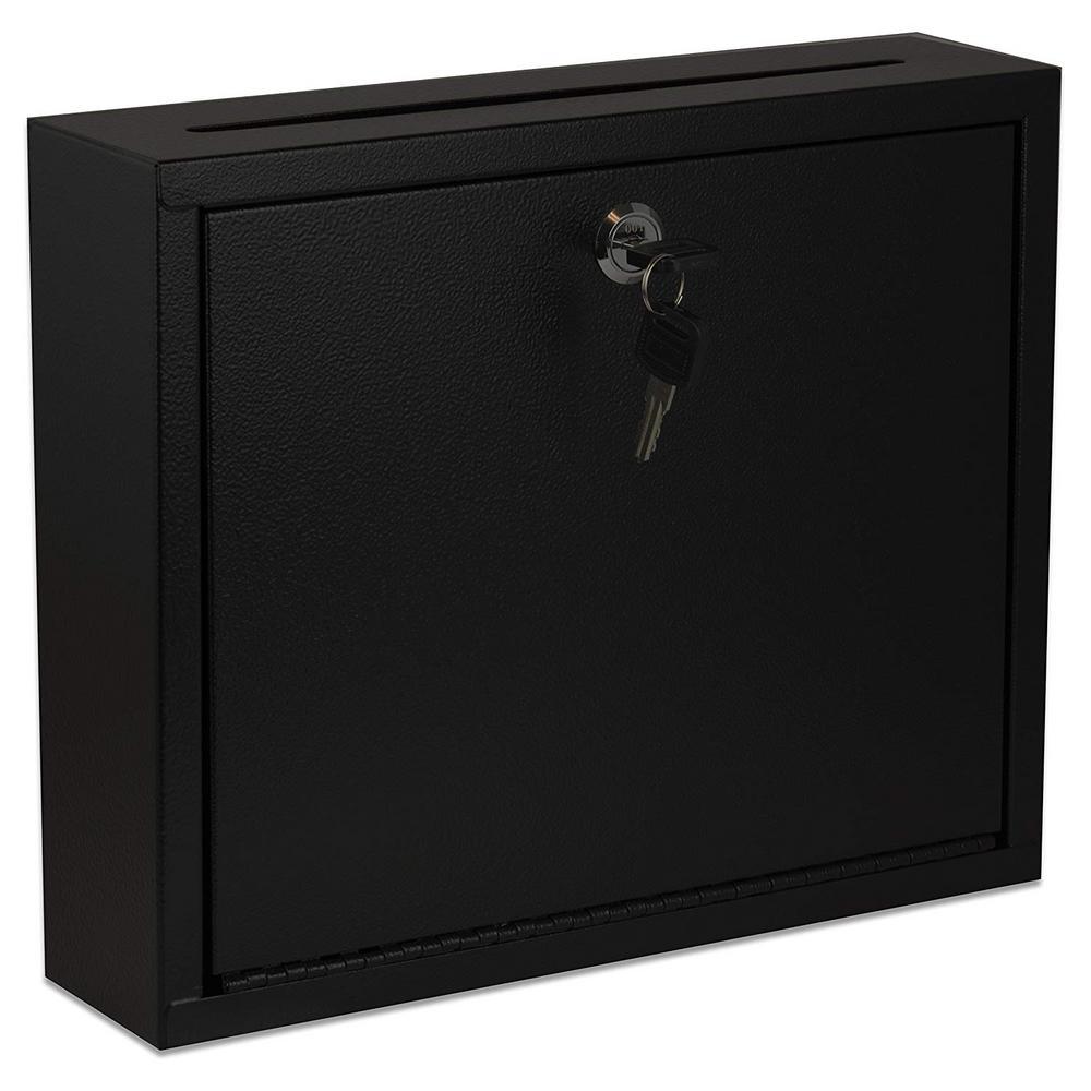 Large Size Black Steel Multi-Purpose Drop Box