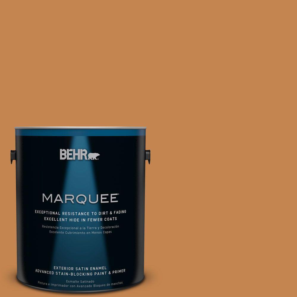 BEHR MARQUEE 1-gal. #PPU4-3 Butter Rum Satin Enamel Exterior Paint