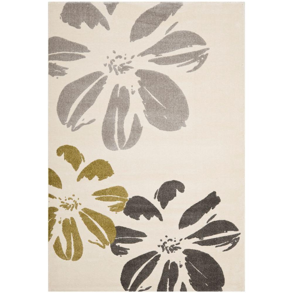Safavieh Porcello Ivory 5 ft. 3 in. x 7 ft. 7 in. Area Rug