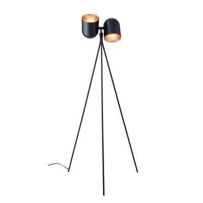 58 in. Black Simon Floor Lamp