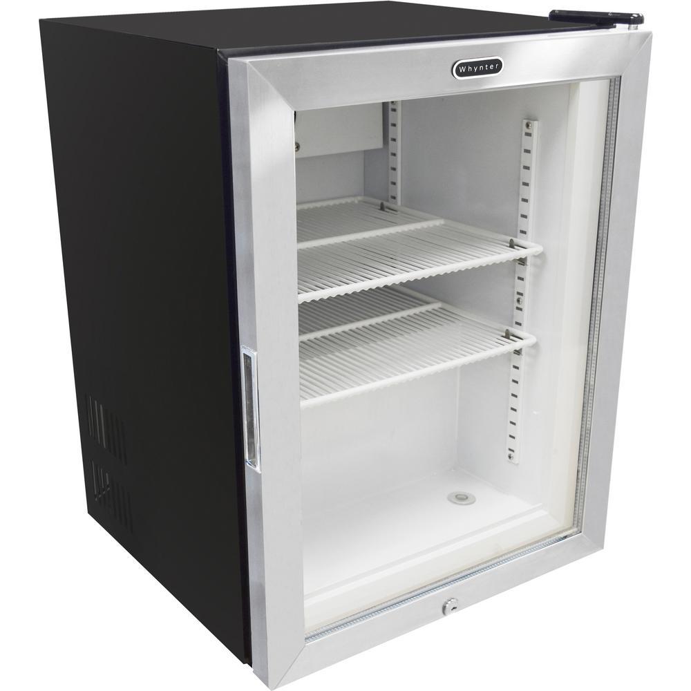 Whynter Countertop Reach In 1.8 cu. ft. Display Glass Door Commercial Reach In Freezer