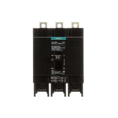 30 Amp Triple-Pole Type BQD Bolt-On Circuit Breaker