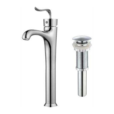Coda Single Hole Single-Handle Bathroom Faucet with Matching Pop-Up Drain in Chrome
