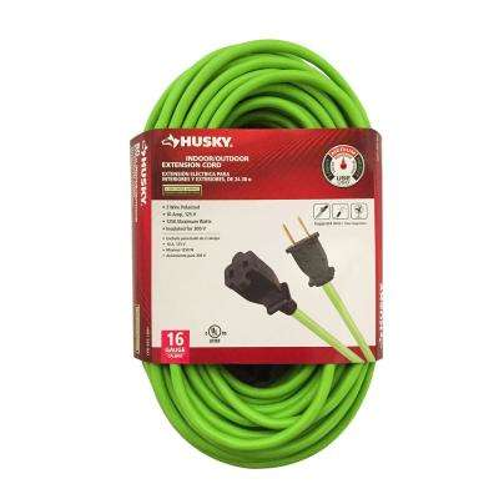 25 ft. 16/2 Indoor/Outdoor Extension Cord, Green