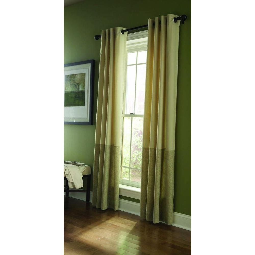 Martha Stewart Living Blackout Pup Tent Color Blocked Grommet Curtain-95 in. Length DISCONTINUED