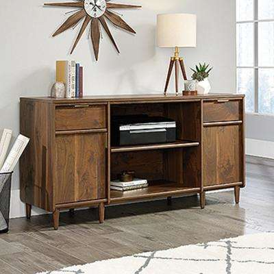 Clifford Place Grand Walnut Credenza with Slide-Out Printer Shelf