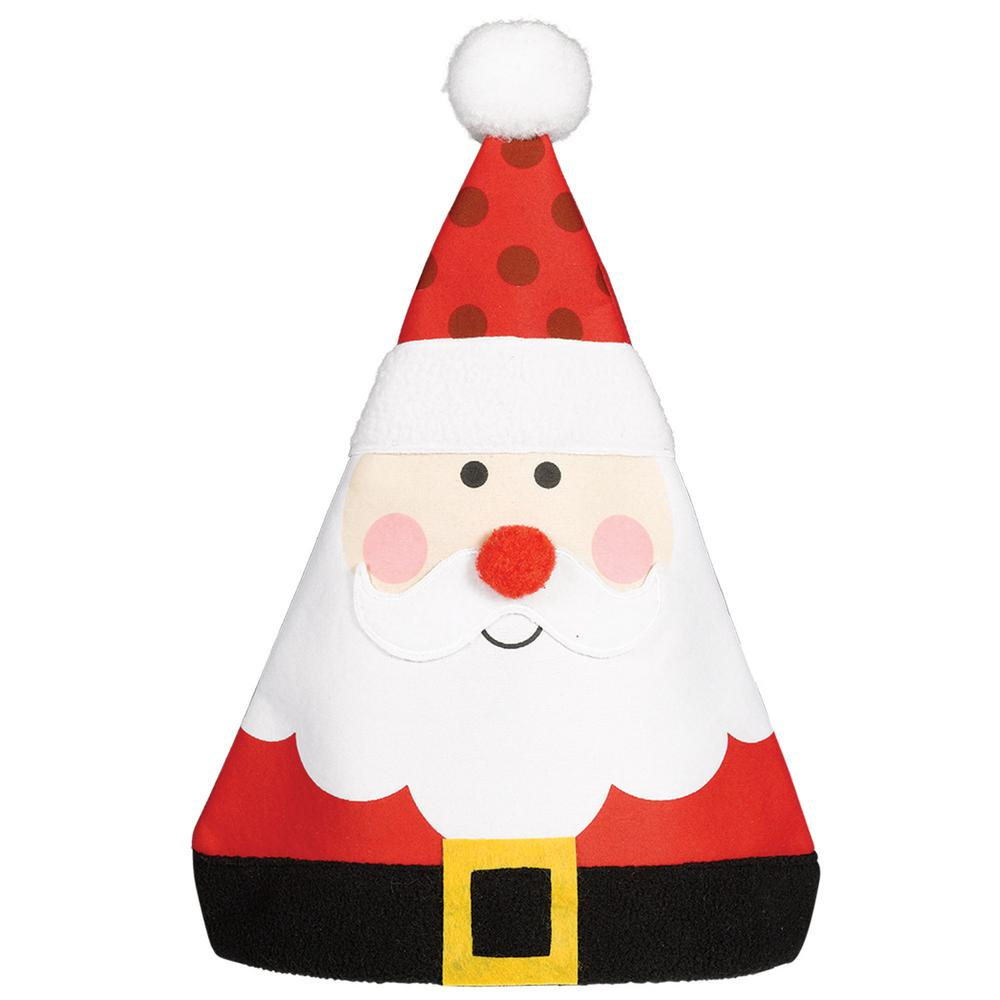 a605ac0e69646 Amscan 15 in. x 12 in. Whimsical Santa Christmas Hat (3-Pack)-398923 ...
