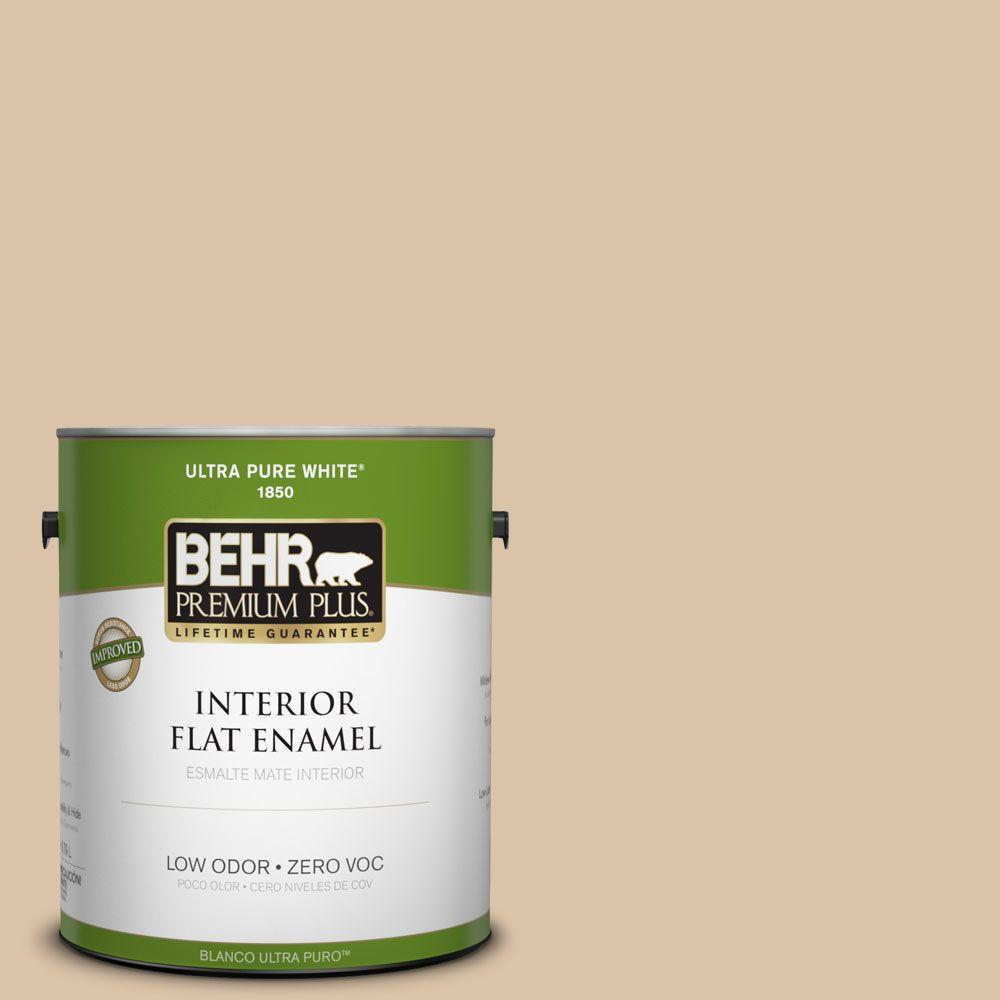 BEHR Premium Plus Home Decorators Collection 1-gal. #HDC-CT-06 Country Linens Zero VOC Flat Enamel Interior Paint-DISCONTINUED