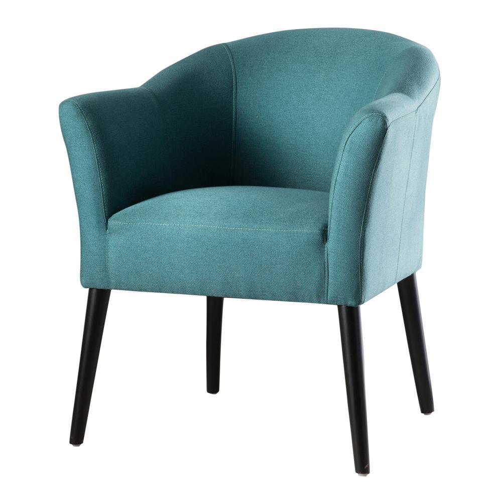 Cosette Dark Teal Fabric Armchair