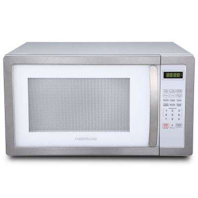 Classic 1.1 cu. ft. 1000-Watt Countertop Microwave Oven, White and Platinum