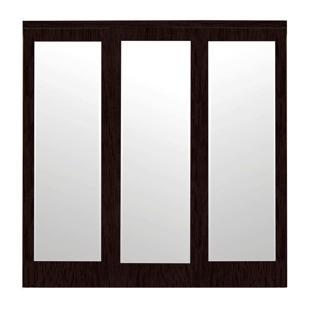 Impact Doors: Impact Plus 96 In. X 96 In. Mir-Mel Espresso Mirror Solid