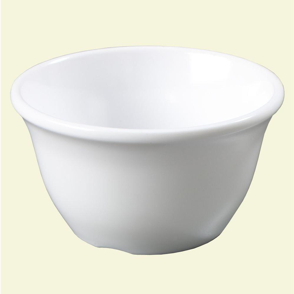 7.6 oz., 3.94 in. Diameter Melamine Bouillon Cup in White (Case