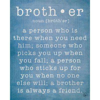 "16 in. x 20 in. ""Brother"" Wrapped Canvas Wall Art Print"